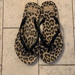 NWOT Kate Spade Nova Cheetah Print Flip Flops 7/8